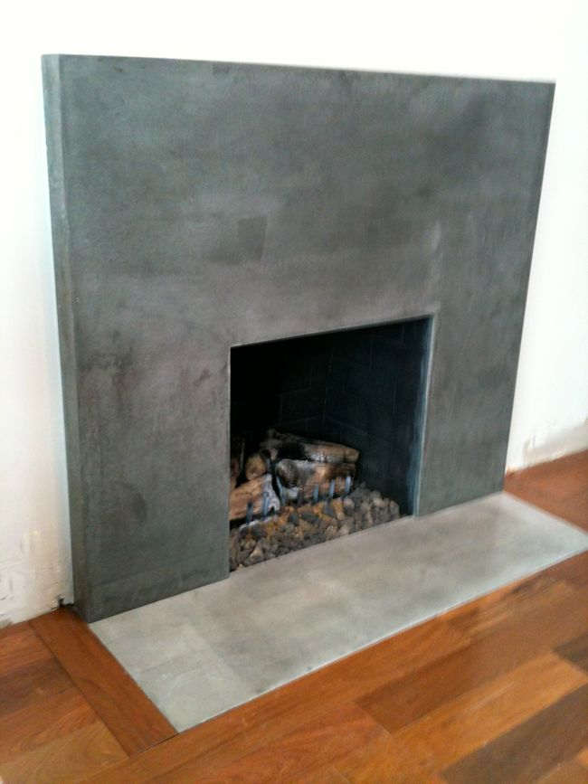 Concrete Fireplace For The Home Pinterest