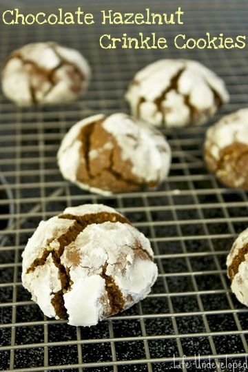 Chocolate Hazelnut Crinkle Cookies | Recipes: Sauces, Dips, Toppings ...