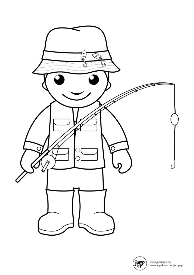 fisherman Printable Coloring