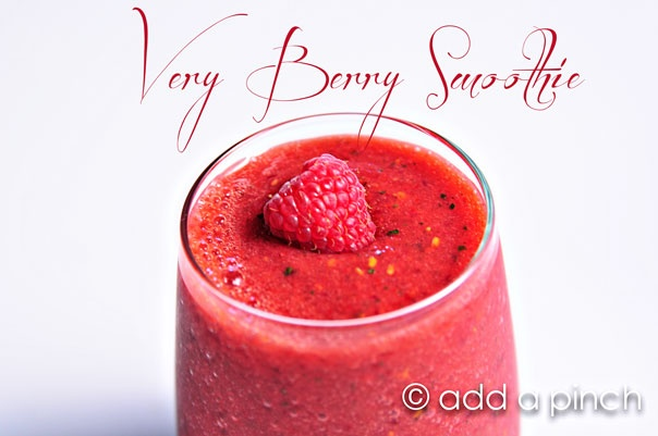 Very Berry Smoothie Recipe for Your Valentine