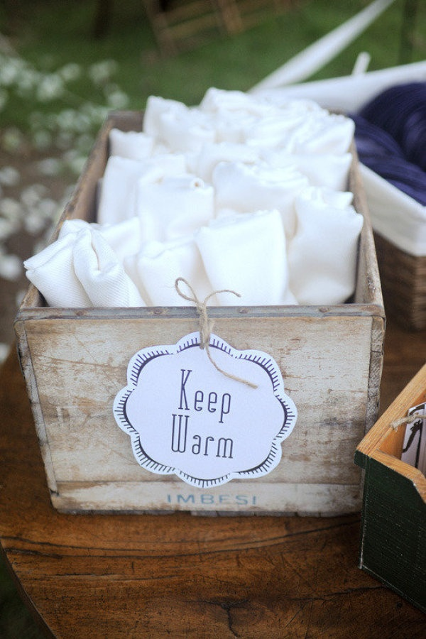 a great way to cozy up an outdoor reception.  Photography by http://shelbyleigh.com