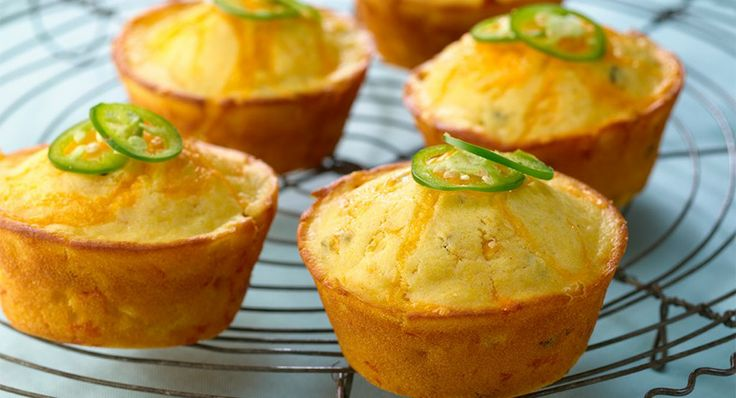 Jalapeño Cheddar Cheese Corn Muffins | Recipe