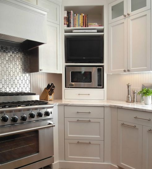 Corner Kitchen Cabinet Solutions Kitchens Pinterest