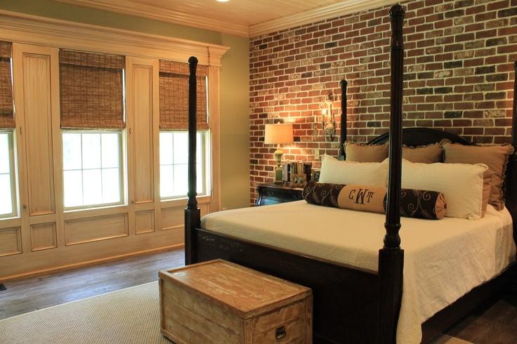 Master Bedroom Brick Wall Future Home Heaven Pinterest