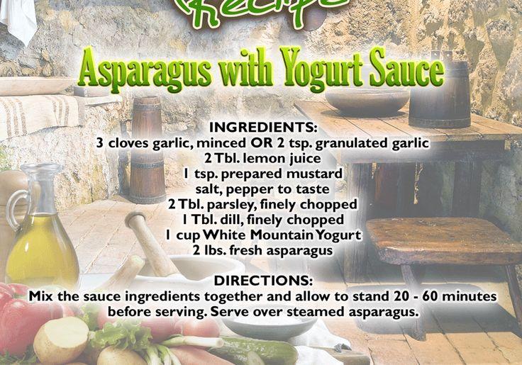 Asparagus with Bulgarian Yogurt Sauce | Healthy Life Style Food | Pin ...