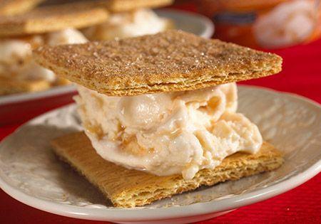 Frozen Yogurt Graham Cracker Sandwiches - These would be a good snack ...