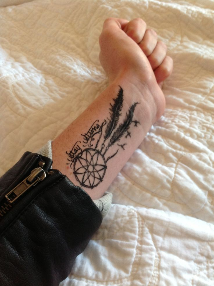 Simple Dream Catcher Tattoo On Wrist