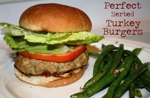 Perfect Herbed Turkey Burgers - omit bread crumbs and use almond flour ...