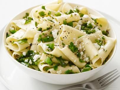 Pappardelle With Snap Peas #Grains #Veggies #MyPlate