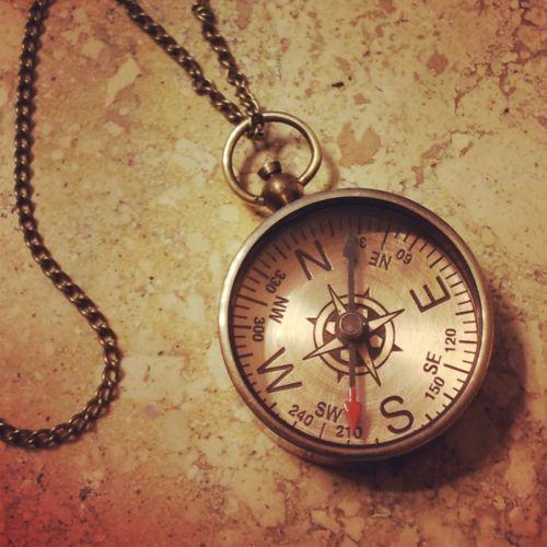 FALL SALE: Compass Necklace Antique Bronze Nautical Vintage Style Pen ...