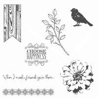 Choose Happiness Clear Stamp Set by Stampin' Up! - 134198 - 17.95