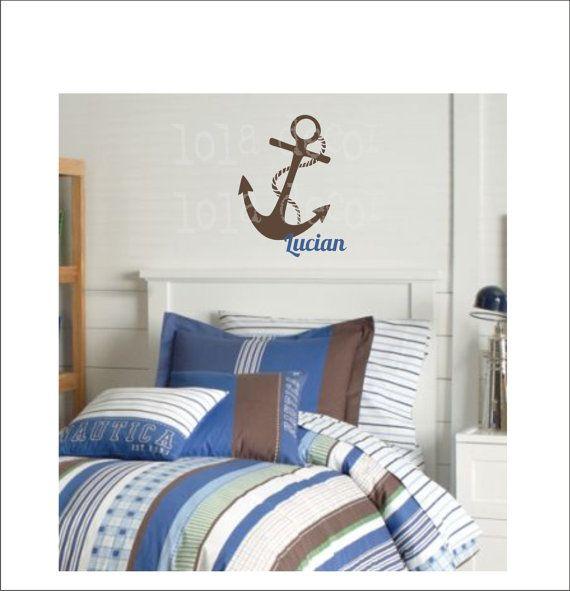 anchor nautical vinyl decal ocean theme bathroom