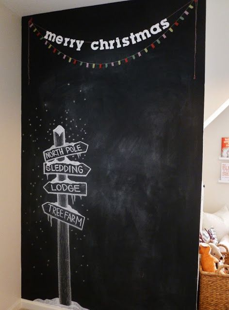 christmas chalkboard holidays partys pinterest