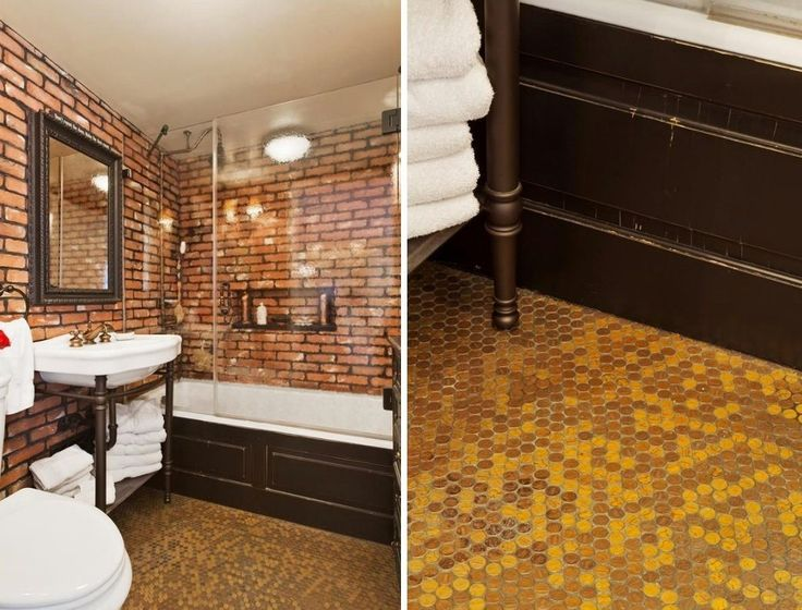 Pin by c c patriarco on for the inside floor pinterest - Floor made out of pennies ...