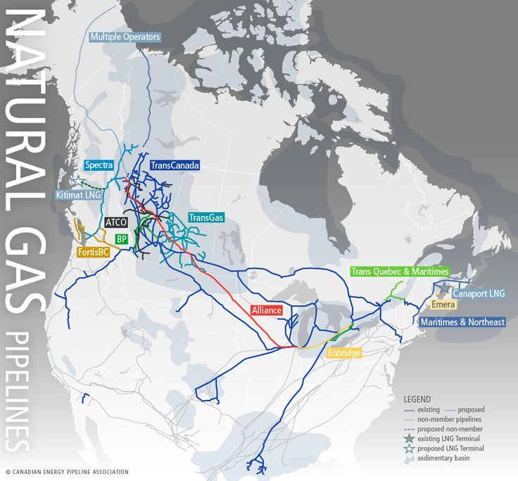 Map Of Canadas Natural Gas Pipelines Clean Coal