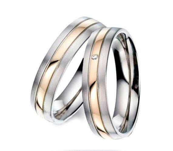 Diamond Wedding Band Set Men Titanium Rings Mens Wedding Band Gold