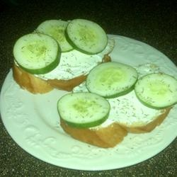 Cucumber Sandwiches III Allrecipes.com | Food | Pinterest