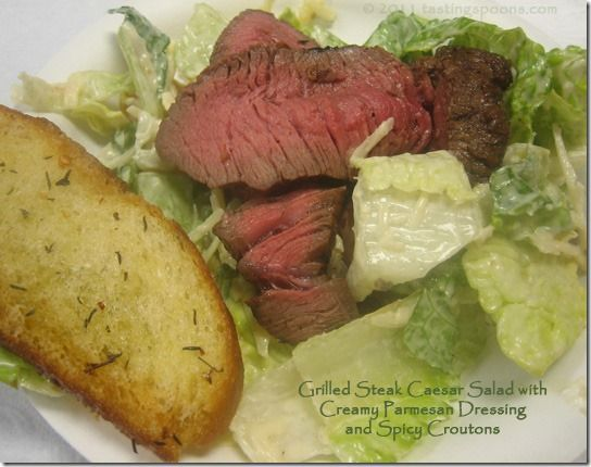 Grilled Steak Kebabs With DOLE Caesar Salad Recipe — Dishmaps