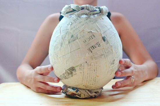 How to make a papier m ch vase for What to make out of paper mache