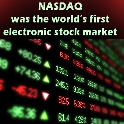 When did electronic stock trading began