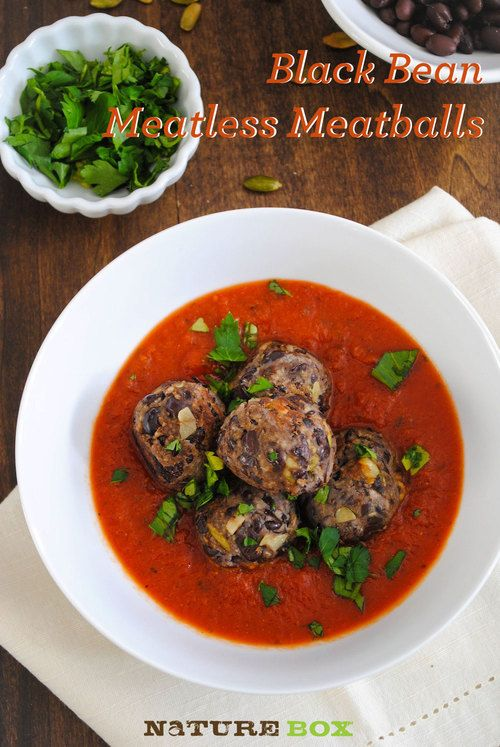 Black Bean Meatless Meatballs: black beans, pumpkin seeds, and panko ...