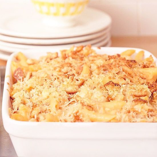 ... sourdough bread crumbs to our classic mac and cheese casserole. Yum