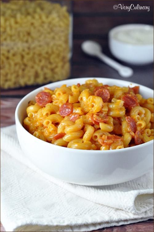 WhatWhatWhaaaat? Pizza Macaroni and Cheese! on www.veryculinary.com