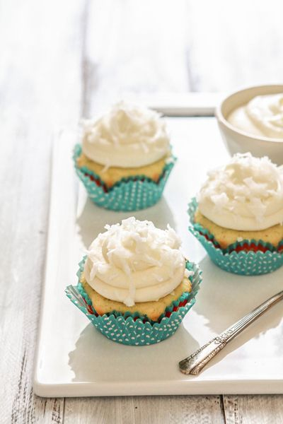 Coconut Lime Cupcakes with Coconut Lime Cream Cheese Frosting | Recipe