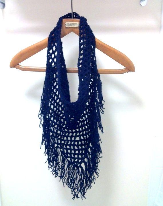 Crochet Scarf Pattern With Fringe : Crochet Fringe Scarf Pattern, Womens Cowl, Fringe Scarf ...