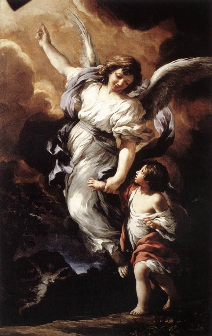"""""""When tempted, invoke your Guardian Angel. He is more eager to help you than you are to be helped! Ignore the devil and do not be afraid of him: He trembles and flees at the sight of your Guardian Angel.""""    -St. John Bosco    #God #Jesus #Christ #Catholic #Christian #Bible #Gospel #Inspiration #Love #Guardian #Angel #Art"""