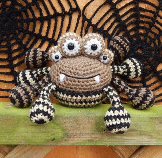 Crochet Amigurumi Spider : Spencer the Spider and Friends, Amigurumi Crochet Pattern