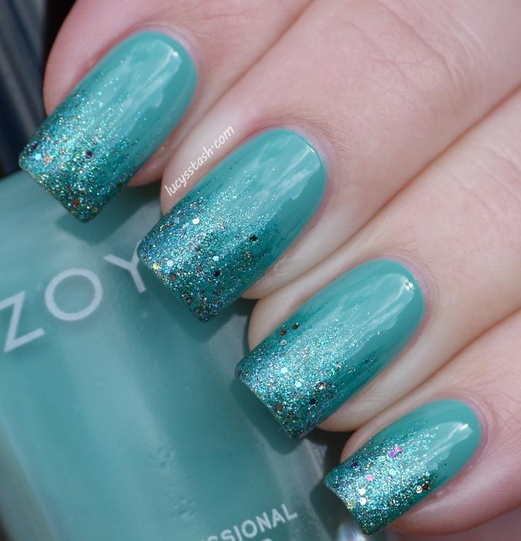 Lucy's Stash: Gradient with Zoya Wednesday, Zuza and china glaze optical illusion