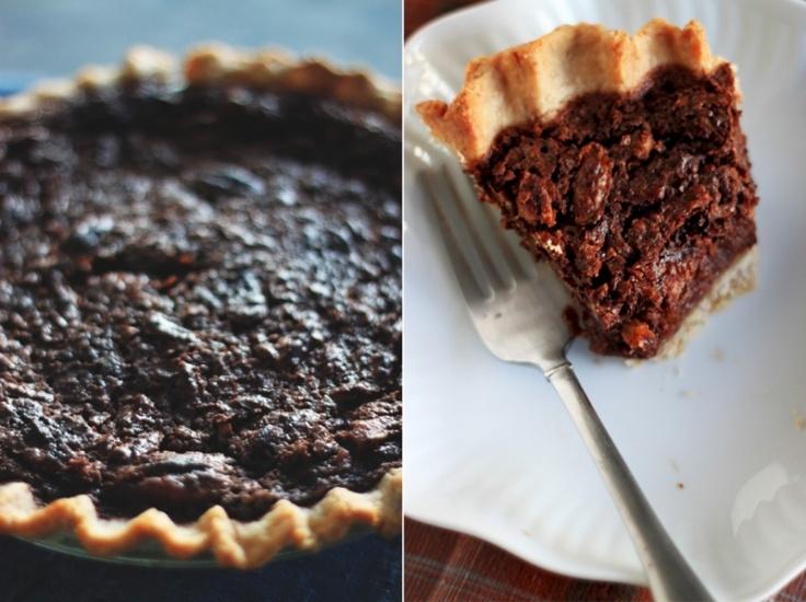 Chocolate Pecan Pie made semi healthy :) My hubby will love this!