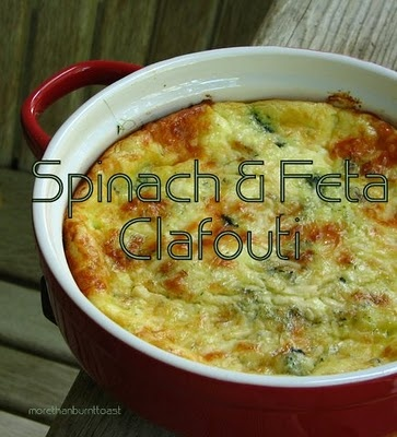 Spinach and Feta Clafouti...yummy! | Food | Pinterest