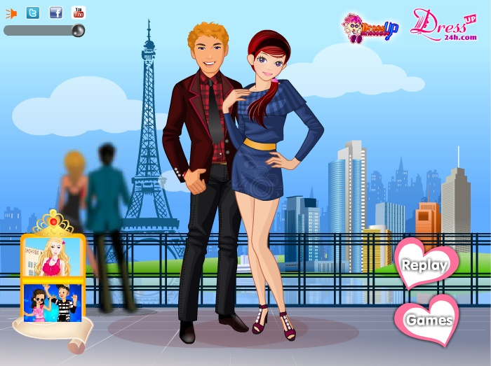 dress up games valentines day kissing