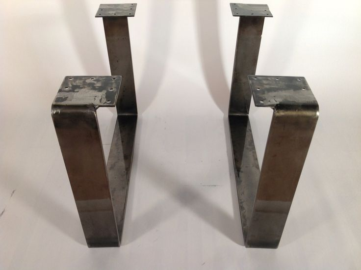 15 x21 powder coated coffee table legs flat steel set 2 Aluminum coffee table legs