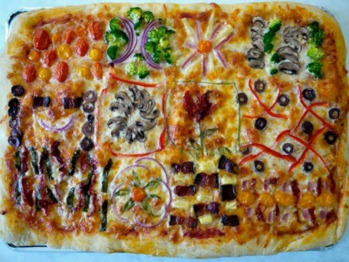 Quilt pizza. | Quilts | Pinterest
