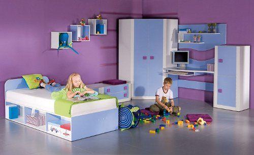 Komplettes Jugendzimmer/Kinderzimmer Mario 01 5-tlg. 5 Farben!