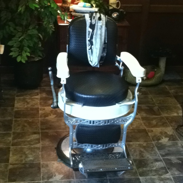 Barber Joint : My barber chair at The Clip Joint Barber Shop.