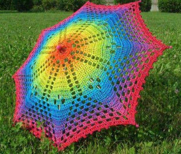 Crochet Umbrella : Crochet umbrella Crafts I wanna do Pinterest