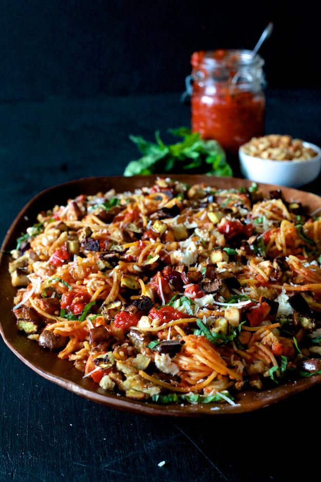 Eggplant Parmesan Pasta ( Gluten Free ) | Recipe