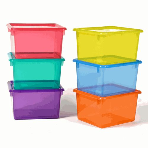 Small Colored Plastic Storage Containers. Clear Colors. $7.99.