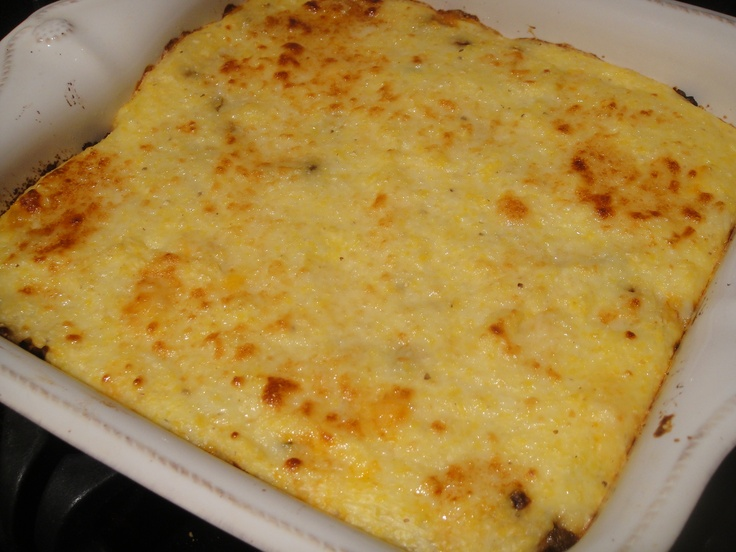 Baked Polenta with Mushrooms | Yummy dinner food | Pinterest