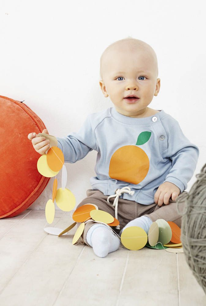 Orange Raglan Tee - Baobab Clothing