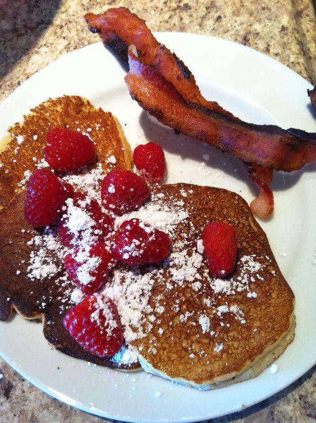 Sweet Almond Pancakes with Raspberries | Recipe Box | Pinterest