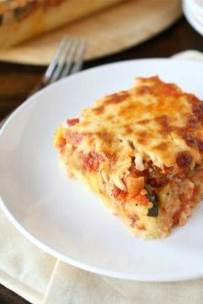 Vegetarian Baked Polenta Pie