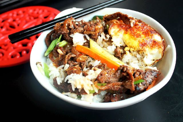 Korean Bulgogi Steak with Fried Egg | food secrets | Pinterest