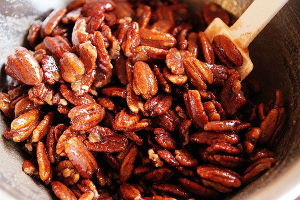 Glazed Pecans -- The recipe I have calls for half a cup more pecans ...