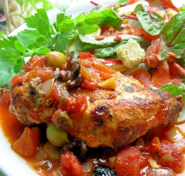 Chicken With Tomatoes And Olives Recipe - Food.com - 331412