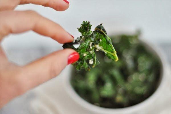 FOOD: Asian Kale Chips Ingredients: - Kale leaves cleaned - 1/4 cup ...